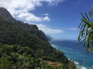Napali Coast view from the Kalalau Trail