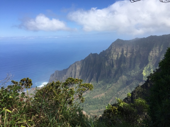 Napali Coast view from the Kalalau Lookout in Kokee State Park